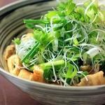 九条葱のおきつねサラダ【韓国風ドレッシング】