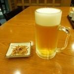 名代そば吉  - 生ビールと揚げ蕎麦