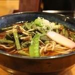 くぼ田 - 山菜そば。