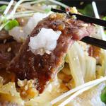 レストラン カントリーパパ - 2014.05_カンパパセット(1674円)お肉は大根おろしと山わさび醤油で♪