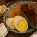 うら田 - おでんが美味しい「うら田」さん。 「おでん おまかせ5種 (700円)」