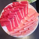 牛太 - 料理写真:豚ロース、牛バラ