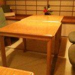 T - 低いテーブルと椅子