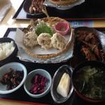 漁港食堂 だいぼ - なめろう天麩羅定食