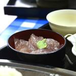 高良食堂 - Aランチ 揚げ物&刺身