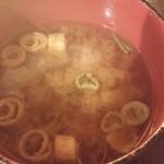 とり鉄 - 味噌汁
