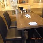 車椅子、子連れ用のテーブル!