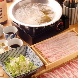 食べ方にこだわる出汁豚しゃぶ
