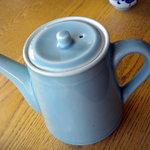 一玄 - 蕎麦湯のポットです、普通のそばを茹でたお湯でした