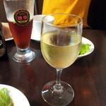 レストラン亀遊亭 - おススメグラス白 620yen