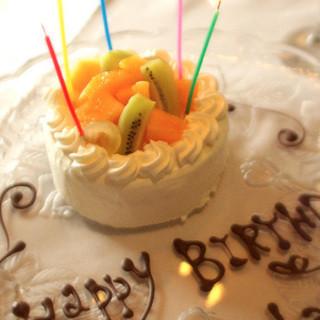 【サプライズ】当日お祝いもデザートも大歓迎!!