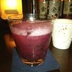 バー カスミチョウ・アラシ - 巨峰とジンのカクテルで祝杯❤