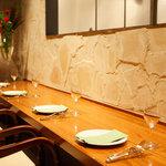ノスタルジーテーブル - カップルに人気の離れたカウンター席