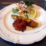 インド料理 ショナ・ルパ - Bランチのチキンティッカとカバブ
