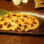 ブラッチュリア 炭味坐 - 焼きレンコン 400円