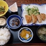 湯ったり館 - 鮭メンチ定食