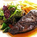 30371459 - Gold rush(ゴールドラッシュ)                       牛肉のステーキ150g・フライドポテト グリーンサラダ