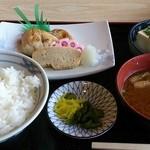 金屋食堂 - 焼魚定食(鰆塩焼)650円