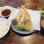 天婦羅 うえじま - 特上天ぷら定食1,550円