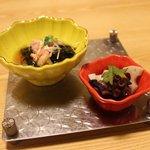 海鮮問屋 博多 - 豪快まな板盛りフルコース 2,500円の前菜☆(第一回投稿分②)