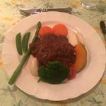 ペンションシルバーフォックス - お肉:牛ショートリブのビール煮込み