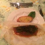 ペンションシルバーフォックス - お魚:キングサーモンの香草包み焼き