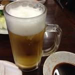 ふくろう亭 - 生ビール 500円(税抜)