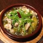 アクワス - 鶏せせりと九条ネギのペペロンチーノ