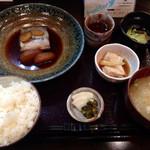 和食堂 穰(ゆたか) - 201409 煮魚定食1050円(太刀魚)