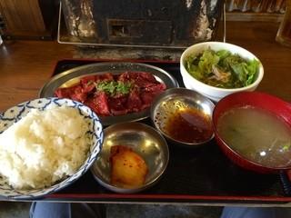 日本焼肉党 浅草橋東口店 - 山形牛焼肉定食(150g)(2014.09)