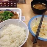 松屋 - ガリチキ定食