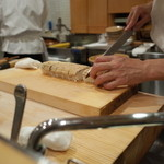 樋口 - お土産の穴子棒寿司(その3)