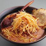 國丸 - 辛味噌肉ネギラーメン