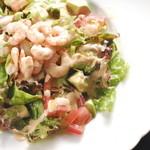 ぷりぷり海老とアボカドのシェフサラダ