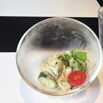 鉄板 松阪屋 - ランチのサラダ