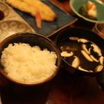 日本料理 梅林 - ごはんと肝吸い