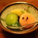 日本料理 梅林 - 是デザートはかわいらしく