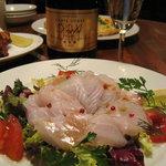SAPO - 目鯛のカルパッチョサラダ/750円