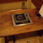 みの家 - これまた年季たっぷりの二人用座卓