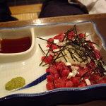 みの家 - 「桜肉の葱たたき」もこれまた美味♪