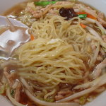 北京亭 - 肉野菜麺は中華麺でいい食感でした☆