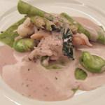 30401341 - 「春野菜のラビオリ」のアップ。