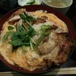 鳥半 - 炭火焼親子丼 1000円(税別)