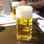 四文屋 - 生ビール¥500 2014.8.16