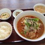 中華 萬福食堂 - 四川冷やし坦々麺ランチセット