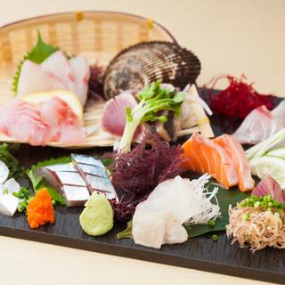旬の魚介料理を堪能!