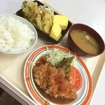 神戸中央港湾労働者福祉センター - 今日のおかずは 鳥の照り焼き ちくわの天ぷら 玉子焼 でいただきます(^_^)