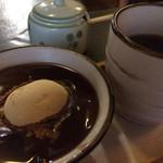 嬌菴 - デザートのわらび餅汁粉と珈琲★★★★★