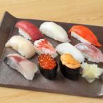 和食と鮨のに条 - 料理写真:グランドすし10貫