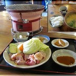 みつせ茶屋 - 料理写真:地鶏焼き定食